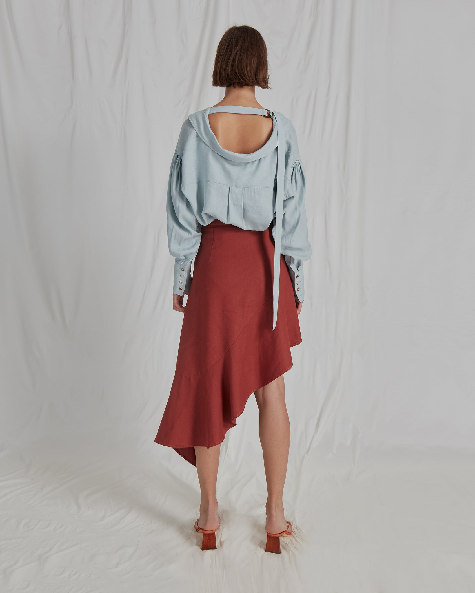 PRE-ORDER / Alicia Shirt Linen Sea Blue