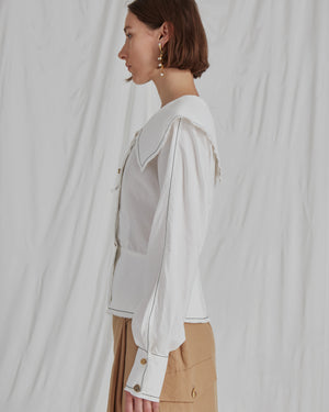 Cameron Shirt Linen Off White