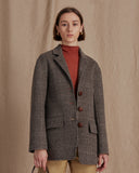 Maria Blazer Wool Beige Check  - Exclusive
