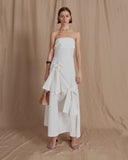 Marta Dress Linen Off-White