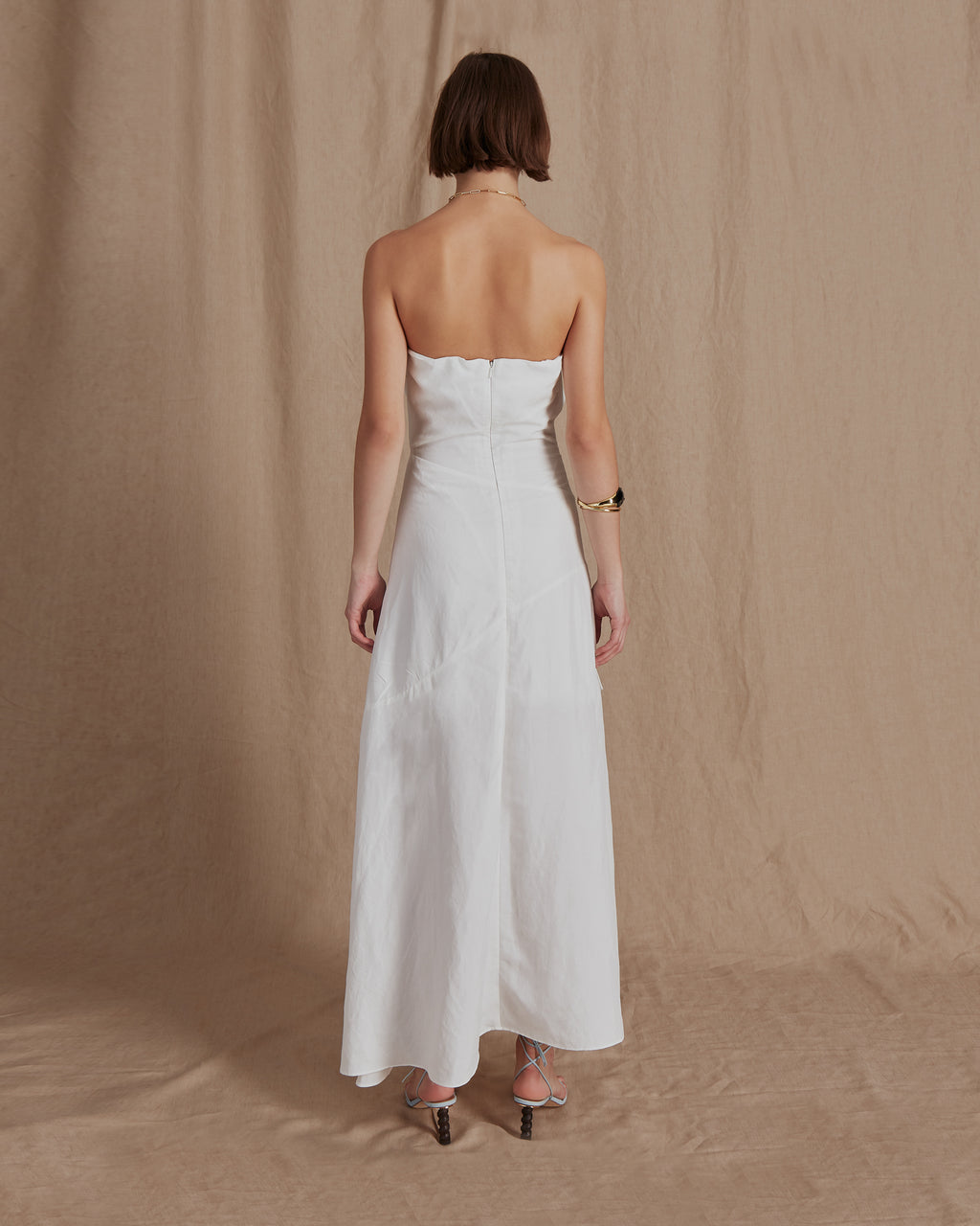 Marta Dress Linen Off White