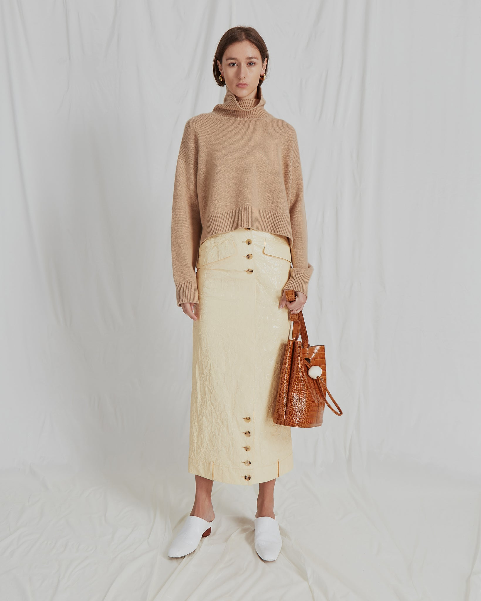 Lyn Sweater Knit Cashmere Beige - Exclusive
