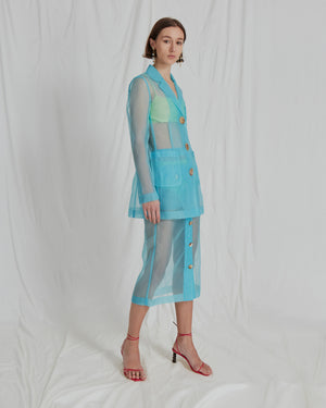 Sophie Jacket Organza Blue - ADDITIONAL 10% OFF SALE PRICE