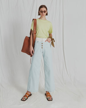 Valerie Jeans Cotton Denim Ombre Sky Blue