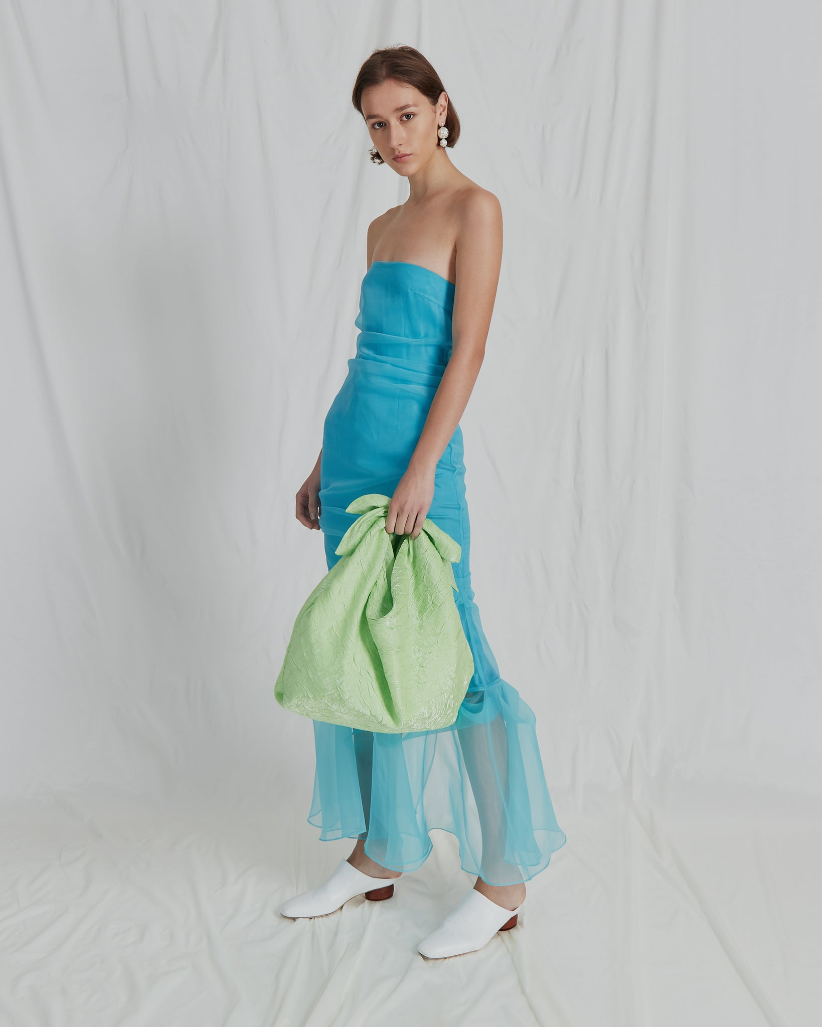 Heather Dress Organza Blue
