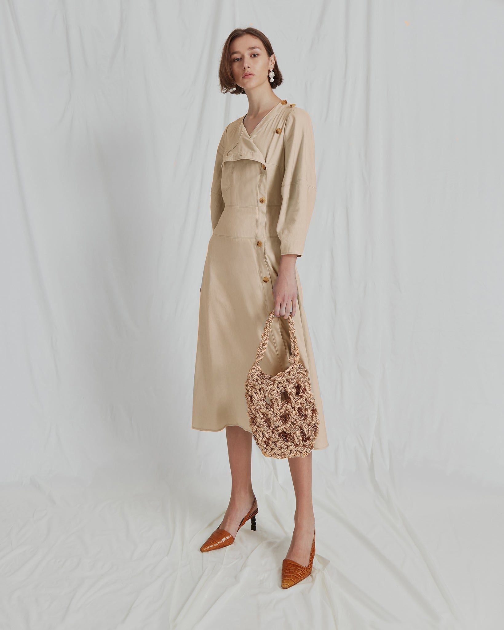 Michaela Dress Linen Beige