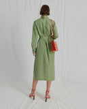 Madison Dress Cotton Linen Green