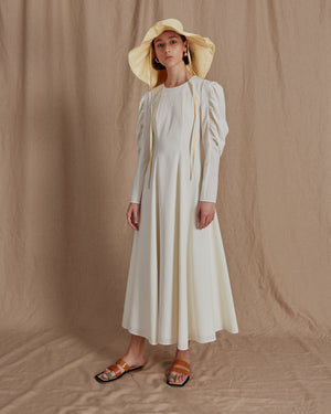 Renee Dress Crepe Ivory
