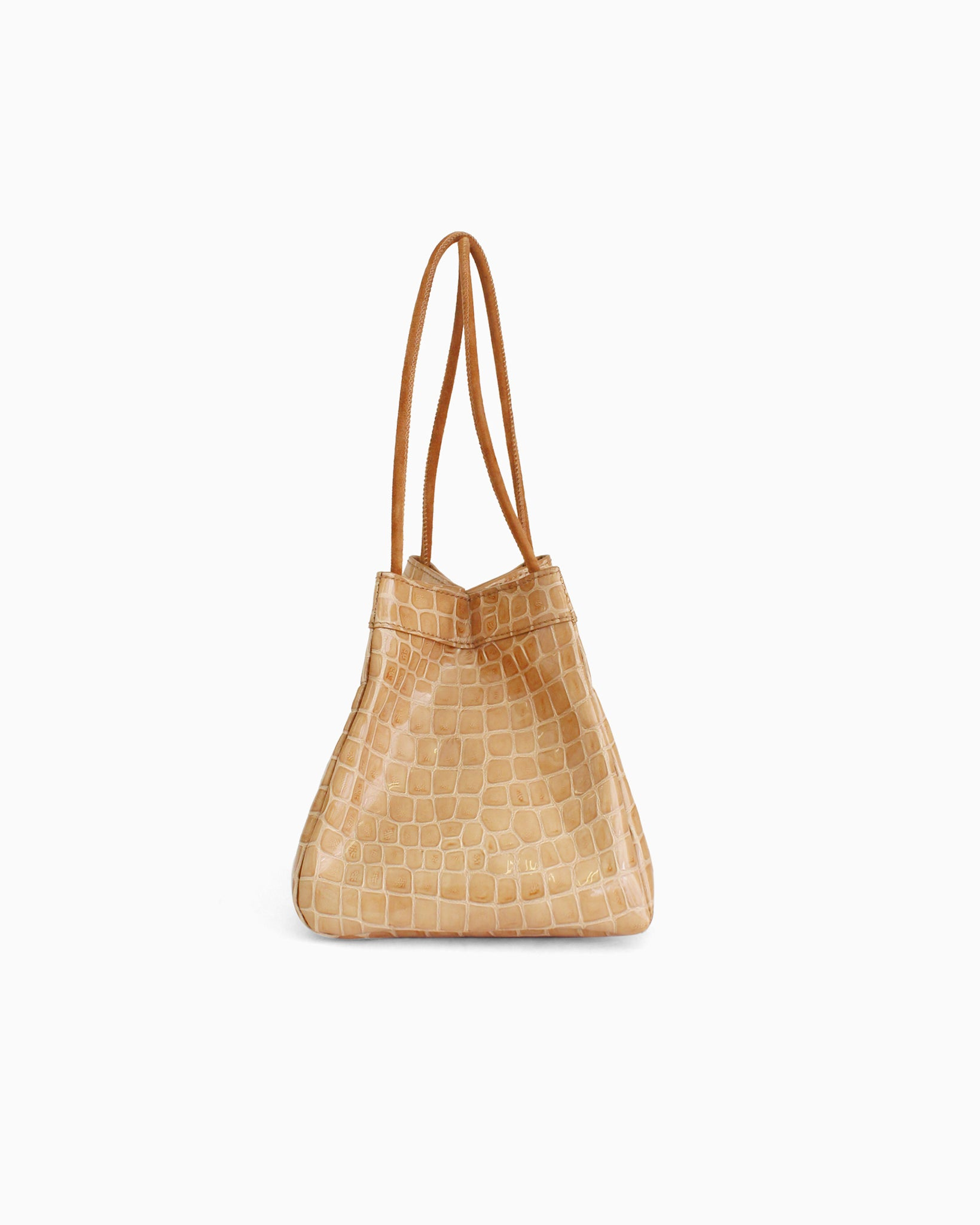 Rita Bag Leather Patent Croc Taupe