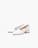 Cecilia Heels Leather White
