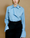 Amber Chambray Shirt with Flap Detail