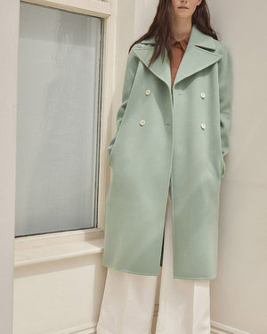 Simone Mint Wool Coat