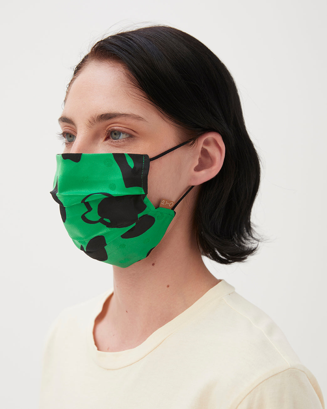 Face Covering Satin Print Green