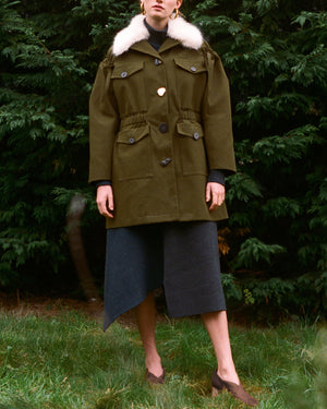 Kriss Coat Canvas Khaki Twill - SPECIAL PRICE