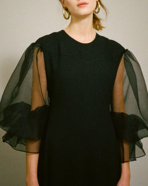 Harriet Sleeve Dress Organza Black