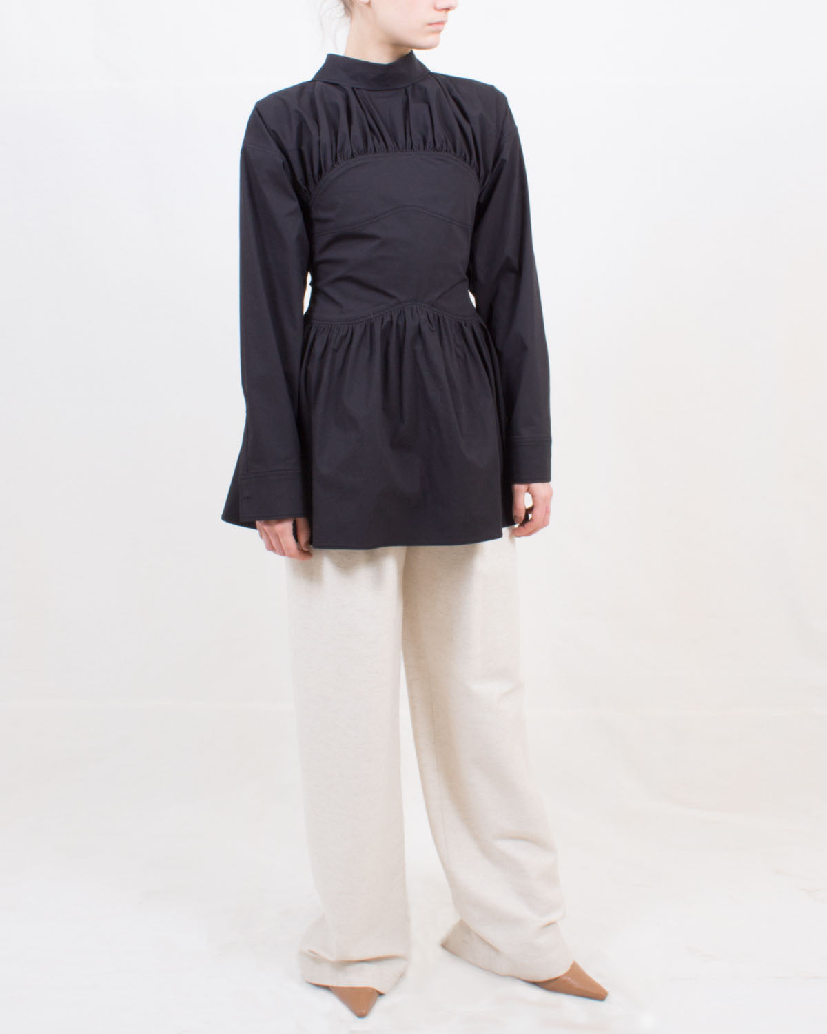 Vera Blouse Cotton Poplin Black
