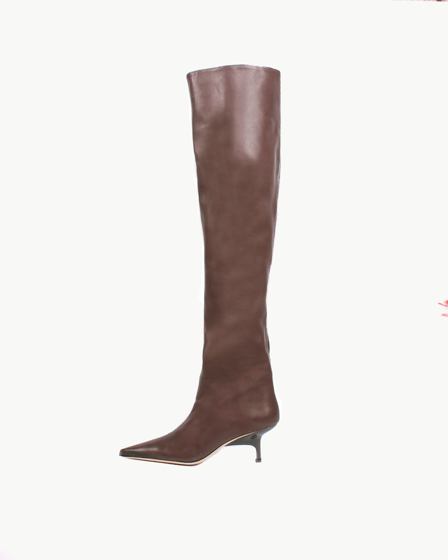 Ashley Boot Leather Brown Tonal Mix