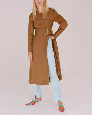 Bailey Dress Japanese Cupro Camel - SPECIAL PRICE
