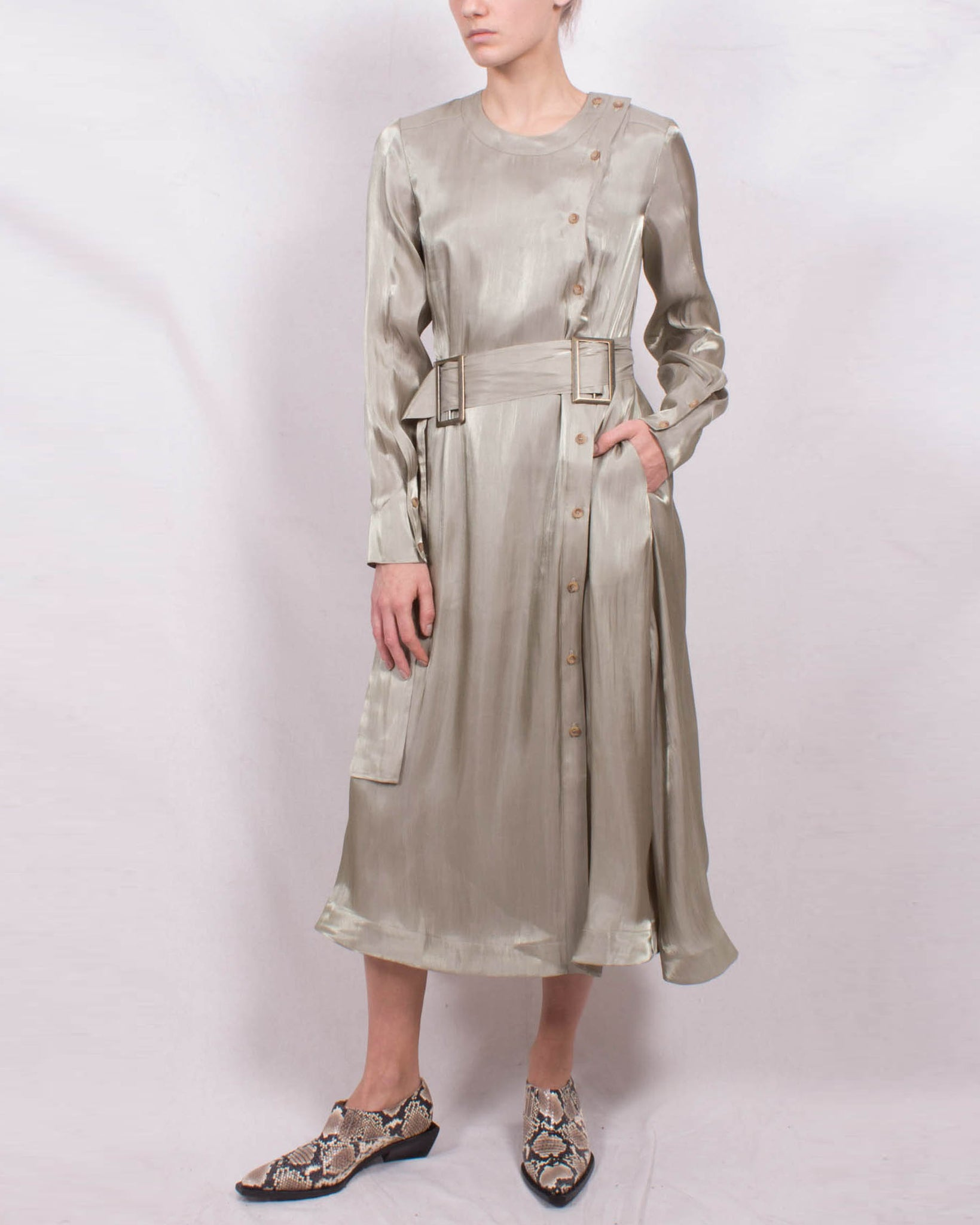 Bailey Dress Fluid Voile Sage - SPECIAL PRICE