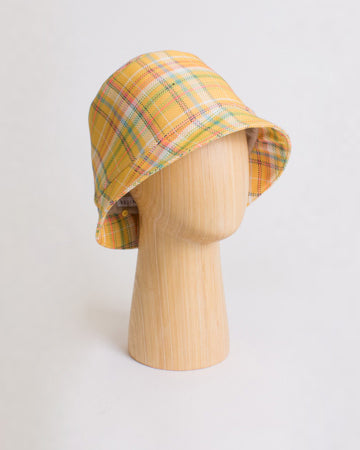 Connor Hat Cotton Blend Check Yellow