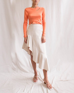 Cady Top Jersey Rib Coral - SPECIAL PRICE