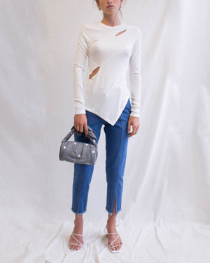 Cady Top Jersey Rib Off-White - SPECIAL PRICE