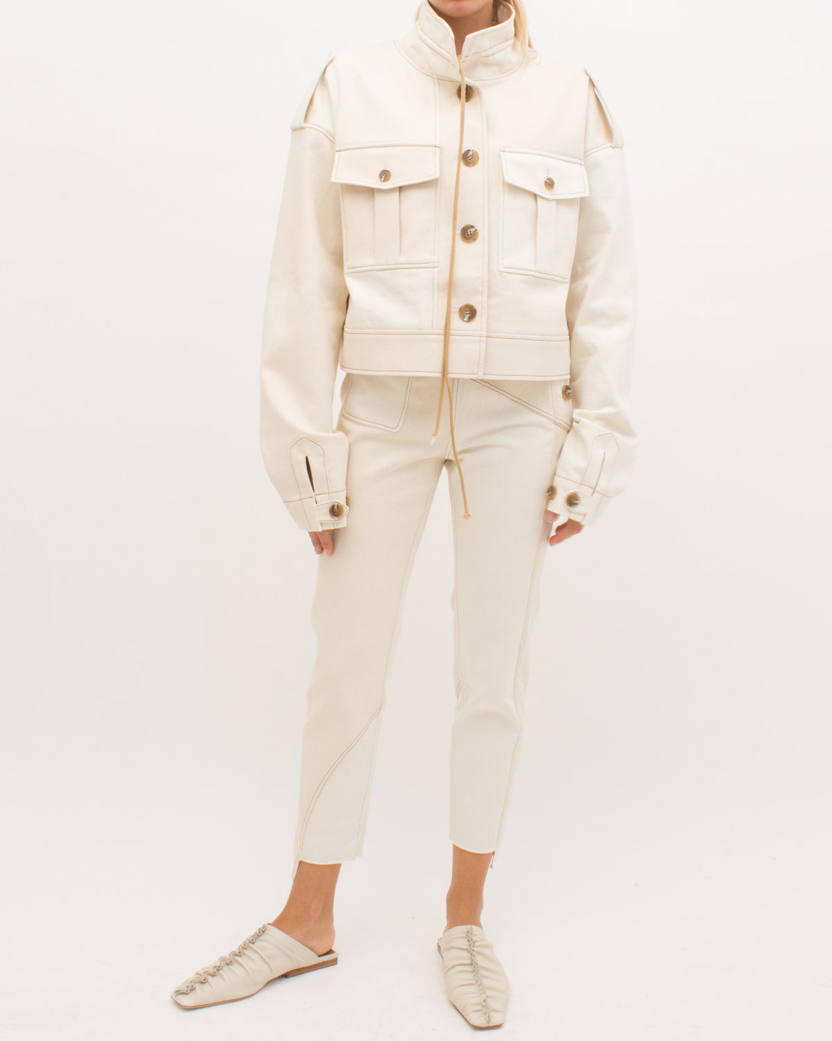 Carly Jacket Cotton Ivory Mix - SPECIAL PRICE