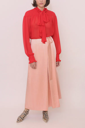 Ellis Skirt Satin Blush