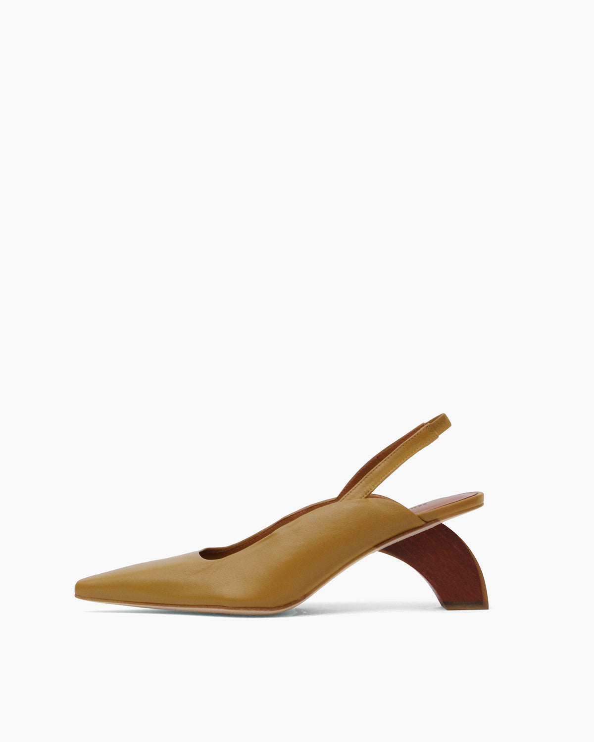 Dylan Slingbacks Leather Olive - SPECIAL PRICE