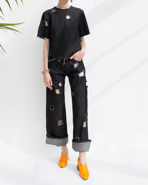 Mia Straight Jeans Black Denim