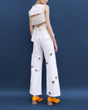 Mia Straight Jeans White Denim