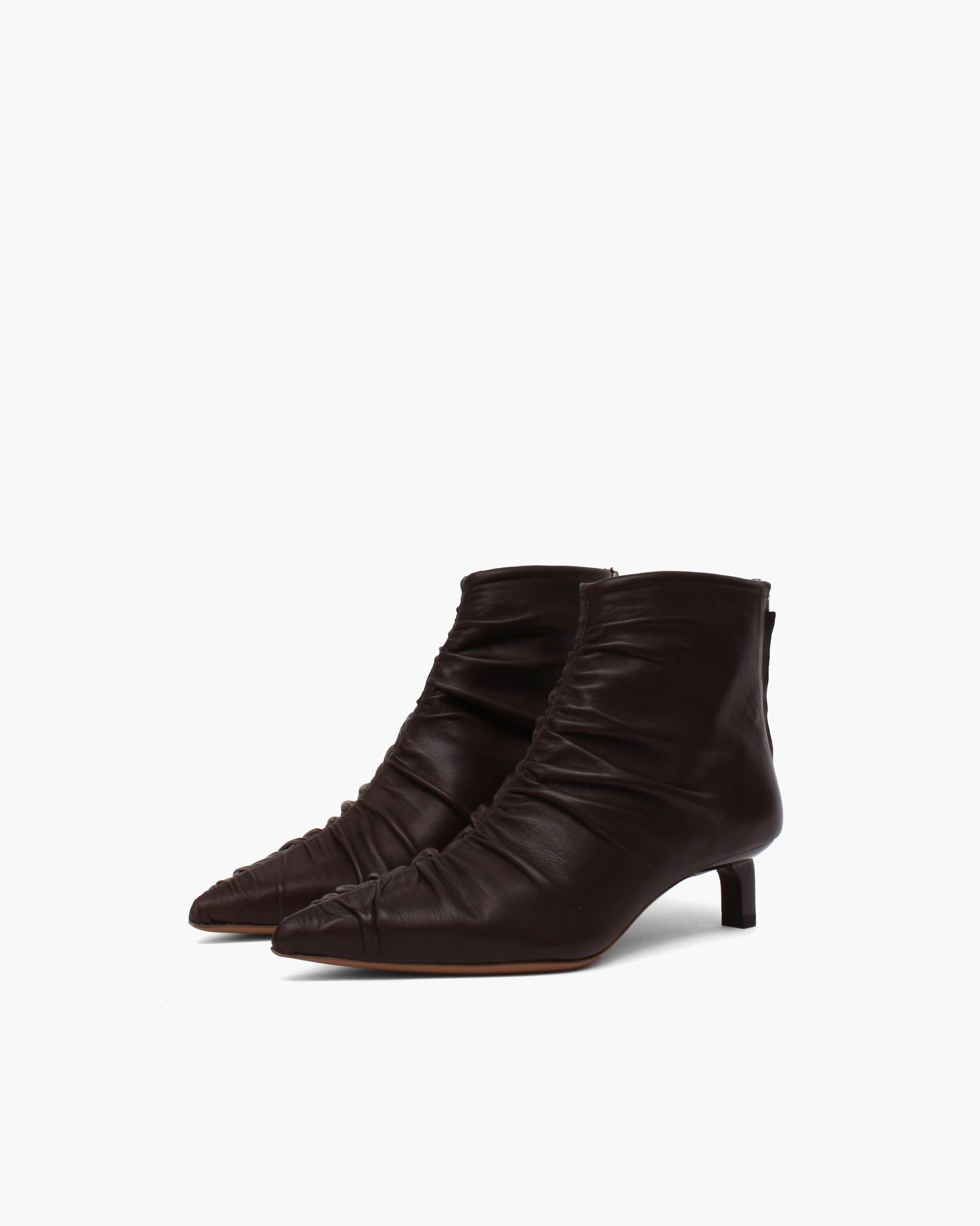 Erin Boots Leather Dark Brown