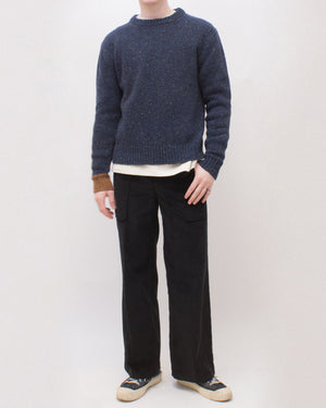 Ellis Sweater Wool Cashmere Blend Navy - UNISEX