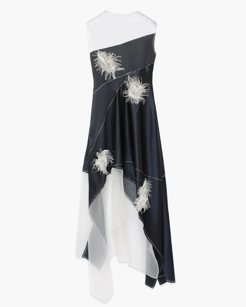 Serena Dress SIlk Satin Navy