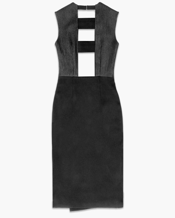 Dana Panelled Dress Black