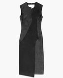 Dana Panelled Dress Black - SPECIAL PRICE