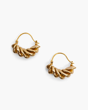 Fusilli Earrings Gold Plated
