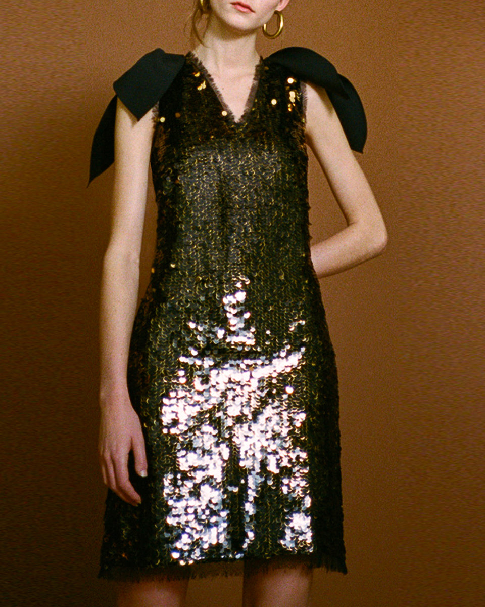 Faye Black Sequin