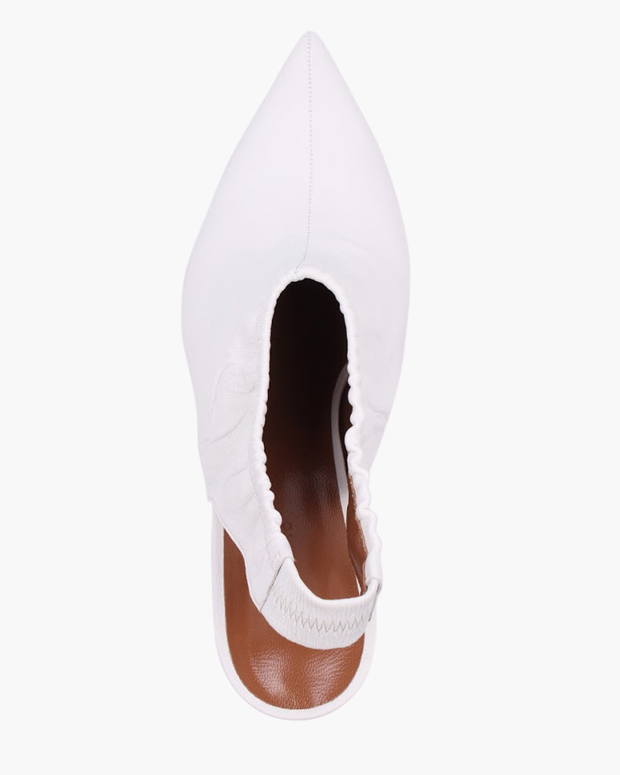 Alissa Slingback Leather White