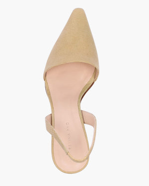 Conie Slingbacks Heels Leather Lizard Taupe