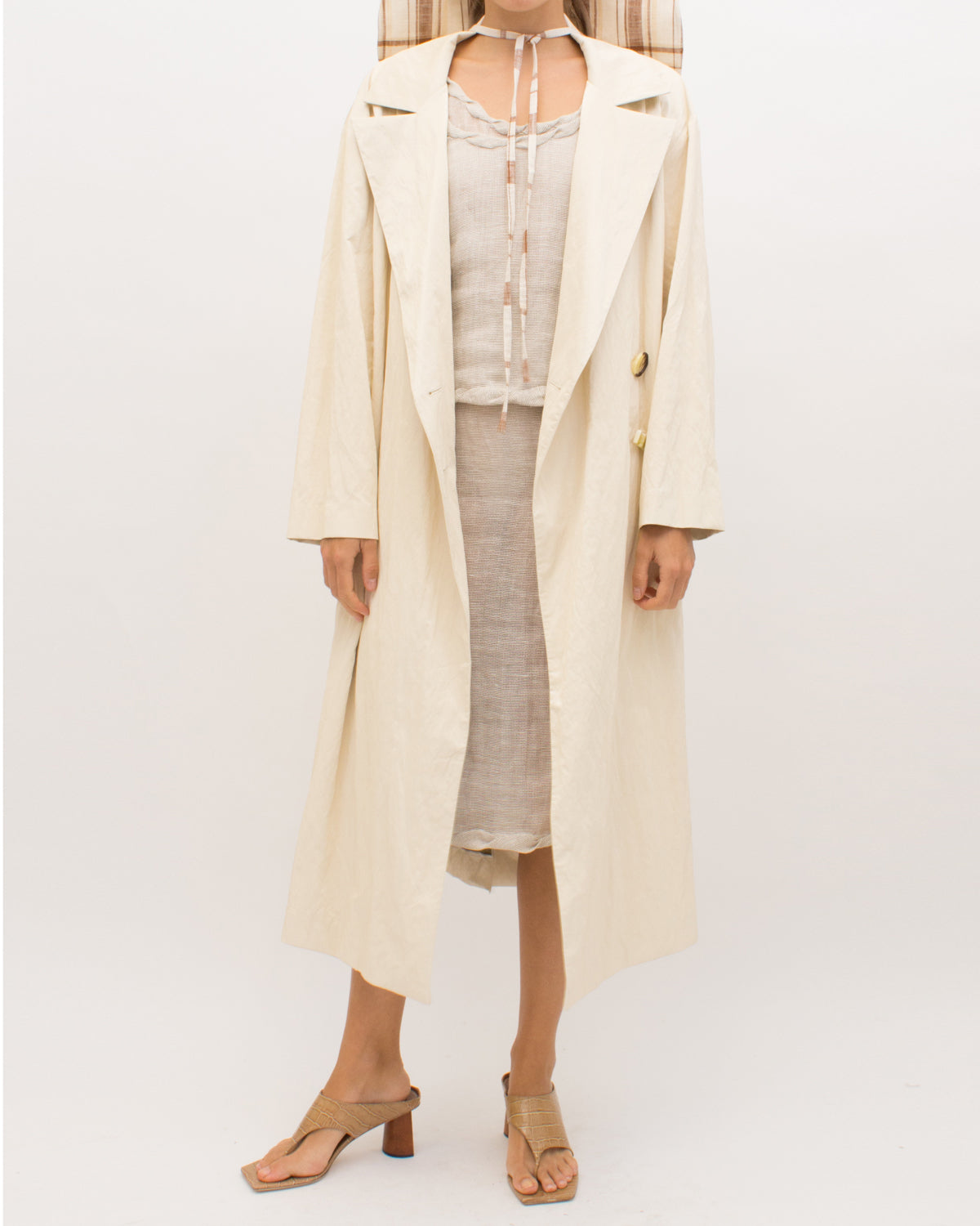 Ida Trenchcoat Coated Shell Ivory - SPECIAL PRICE