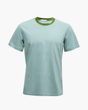 Rhys T-shirt Cotton Jersey Mint Blue + Green  - UNISEX