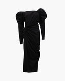 Andi Dress Cotton Poplin Black