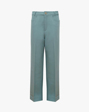 Elliot Trousers Poly Suiting Grey Blue