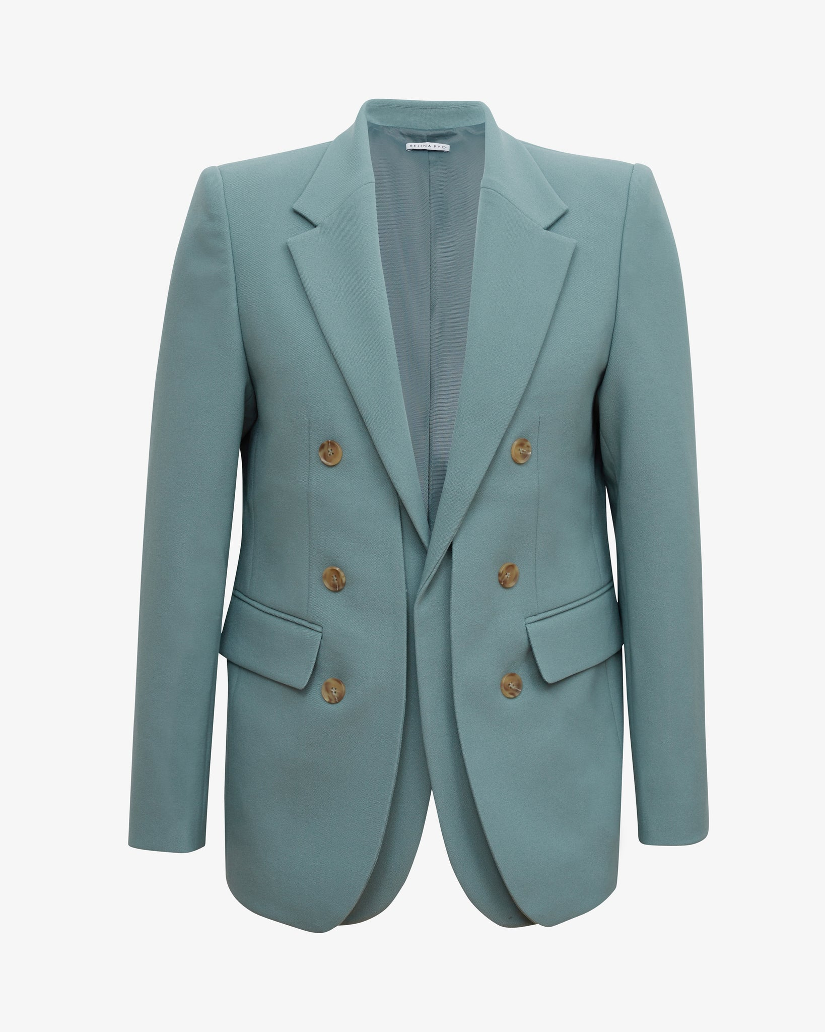 Darcy Jacket Poly Suiting Grey Blue
