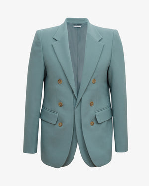 Darcy Jacket Poly Suiting Grey Blue  - UNISEX
