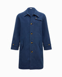 Rowan Overcoat Cotton Navy  - UNISEX