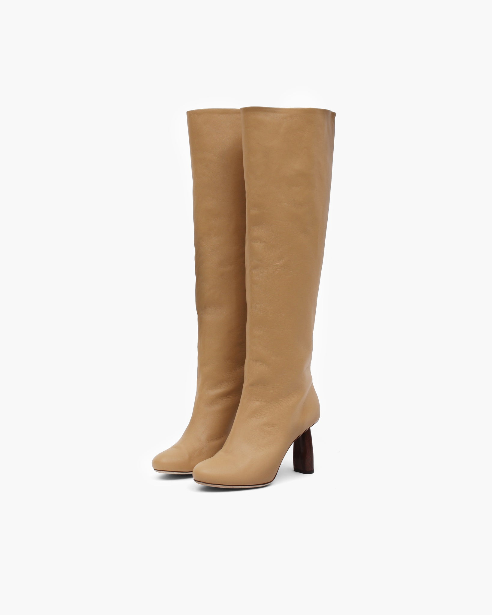 Allegra Boot Leather Nappa Almond