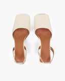 Luna Slingbacks Leather Cream