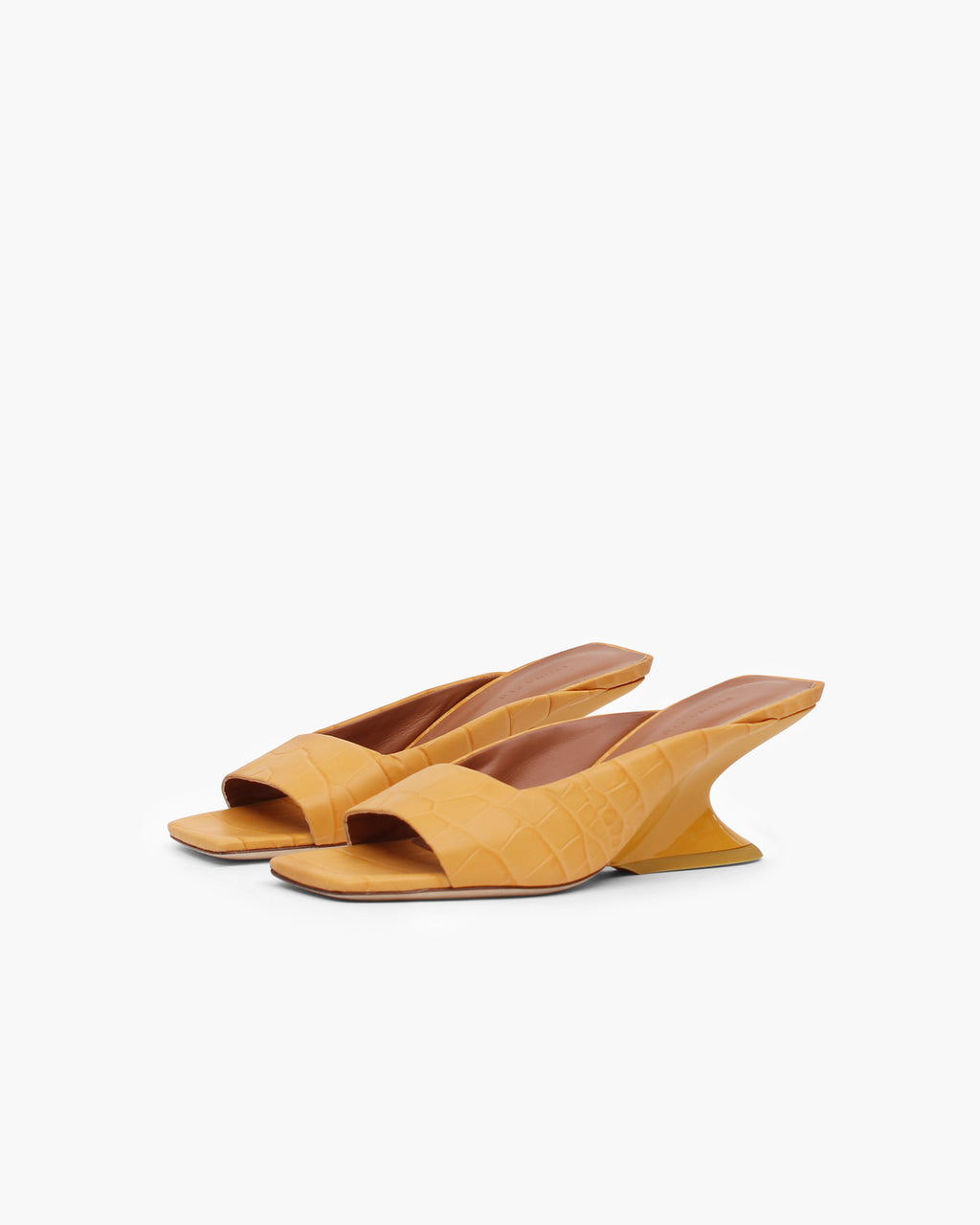 Norma Sandals Leather Croc Peach